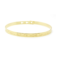 "Bracelet ""IT'S NICE TO BE IMPORTANT...BUT IT'S MORE IMPORTANT TO BE NICE"" Plaqué Or"