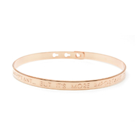 "Bracelet ""IT'S NICE TO BE IMPORTANT...BUT IT'S MORE IMPORTANT TO BE NICE"" Plaqué Or Rose"