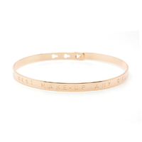 "Bracelet ""A SMILE IS THE BEST MAKE-UP ANY GIRL CAN WEAR"" Plaqué Or Rose"
