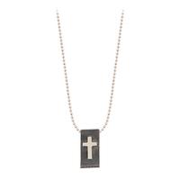 Collier Médaille Croix Argent