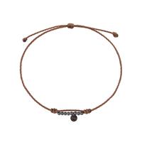 Bracelet Multi-Perles Argent Noir