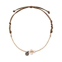 Bracelet Chaine Or Croix et Cordon