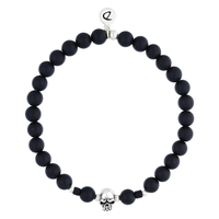 Bracelet Tête de Mort Black