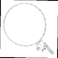 Bracelet Star Pompon Argent