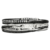 Bracelet Etincelle Noir Argent