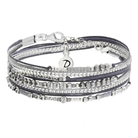 Bracelet Inspiration Double Gris Argent