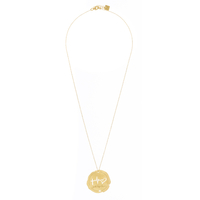 Collier Faith Hope Love Plaqué Or
