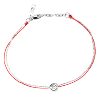 Bracelet Single Full Or Blanc Rouge