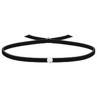 Bracelet 3 Petits Points -  Diamant - Noir Cuir