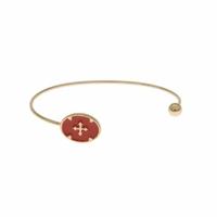 Bracelet Jonc Camé Rouge Plaqué Or