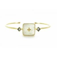 Bracelet Meruba Blanc Plaqué Or