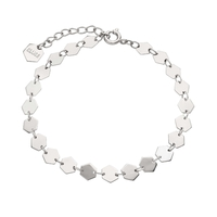 Bracelet Cluse Essentielle Silver all Hexagons Chain