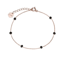 Bracelet Cluse Essentielle Rose Gold Black Crystals Chain