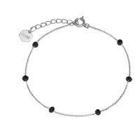 Bracelet Cluse Essentielle Silver Black Crystals Chain