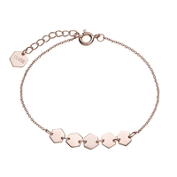 Bracelet Cluse Essentielle Rose Gold Hexagons Chain