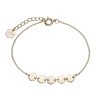 Bracelet Cluse Essentielle Gold Hexagons Chain