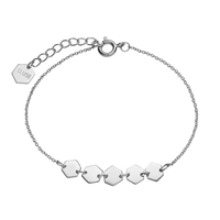 Bracelet Cluse Essentielle Silver Hexagons Chain