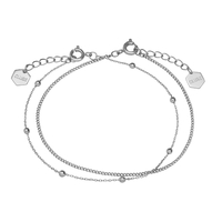 Bracelet Cluse Essentielle Silver Set of Two Fine Chain