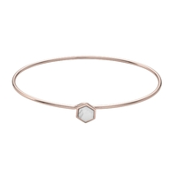 Bracelet Cluse Idylle Rose Gold Marble Hexagon Bangle