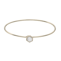Bracelet Cluse Idylle Gold Marble Hexagon Bangle