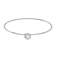Bracelet Cluse Idylle Silver Marble Hexagon Bangle