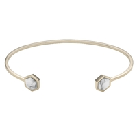 Bracelet Cluse Idylle Gold Marble Hexagons Open Cuff