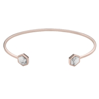 Bracelet Cluse Idylle Rose Gold Marble Hexagons Open Cuff