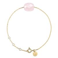 Bracelet Friandise Coussin Quartz Rose Or Jaune