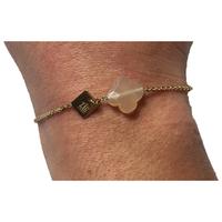 Bracelet Trèfle Doré Nude Rose/Beige