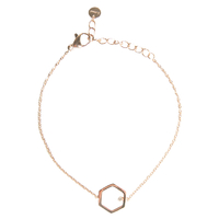 Bracelet Hexagone Rose Gold