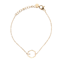 Bracelet Hexagone Gold