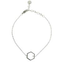 Bracelet Hexagone Silver