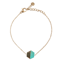 Bracelet Marble Hexagone Gold/ Turquoise