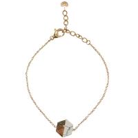 Bracelet Marble Hexagone Gold/ Blanc