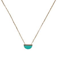 Collier Marble Gold Turquoise Demi