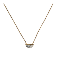 Collier Marble Gold Blanc Demi