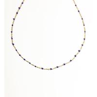 Collier Chaine Bleu Foncé
