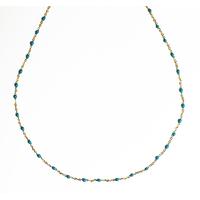 Collier Chaine Bleu Clair