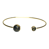 Jonc Marble Rond Gold/ Noir