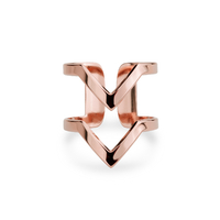 Bague Forme VV Rose Gold