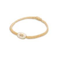 Bracelet Cordon Etoile du Nord Emaillé Ivoire
