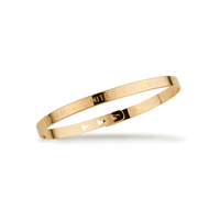 "Bracelet Jonc ""I am a limited edition"" Plaqué Or"