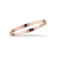 "Bracelet Jonc ""I am a limited edition"" Plaqué Or Rose"