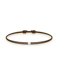 Bracelet Twist Diamant Marron