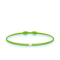 Bracelet Twist Diamant Vert Fluo