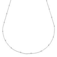 Sautoir Chaine Boule 80cm Argent