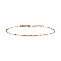 Bracelet Chaine Barre Plaqué Or Rose