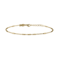 Bracelet Chaine Barre Plaque Or