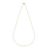 Collier Chaine Boule 45cm Plaqué Or