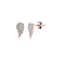 Boucles d'Oreilles Mini Ailes d'Ange Plaqué Or Rose
